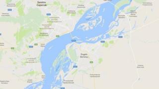 Saratov viloyati Engels tumani xaritasi
