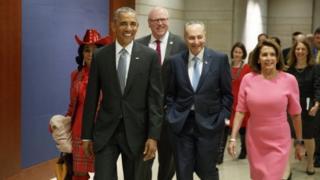 奥巴马在任内最后16天到访国会山