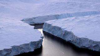 Un iceberg se détache des côtes australiennes de l'Antarctique (illustration).