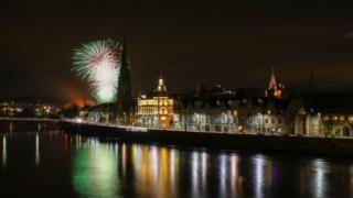 Fireworks over the River Tay