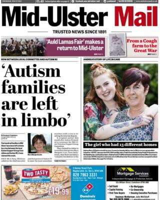 Front page Mid-Ulster Mail Thursday 27 July 2017