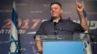 Avi Gabbay gives a speech after being voted in as the new leader of Israel's main opposition Labour Party on July 10, 2017 in Tel Aviv