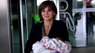 Lina Álvarez y su hija