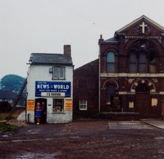 Mr and Mrs Hudson, newsagents, Seacroft, Leeds, 1974