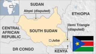 Ramani ya Sudan kusini