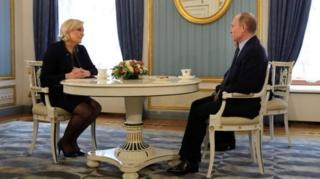 Марин Ле Пен перед голосованием посещала Россию