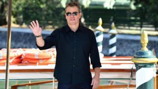 Matt Damon arriving at the Venice Film Festival