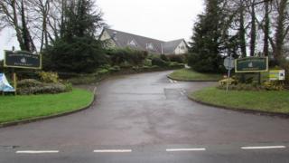 The entrance to Dewstow Golf Club