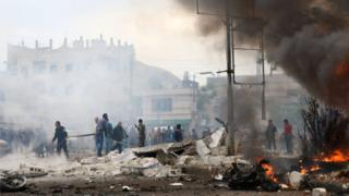التفجير حدث وسط مدينة إعزاز