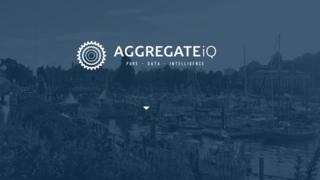 "AggregateIQ logo from its website, with the tagline ""Pure - Data - Intelligence"""
