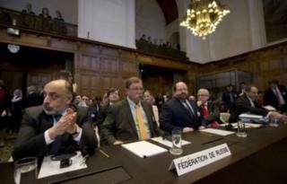 представники Росії на суді в Гаазі