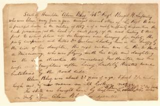 The handwritten letter that tells the story of the skull