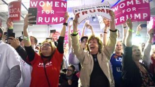 ٹرمپ کی حامی خواتین