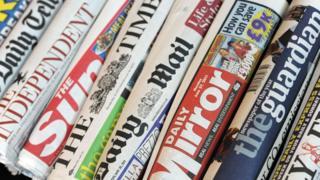 UK newspaper mastheads