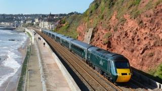 GWR train near Dawlish