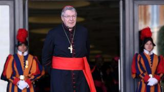 Kadinali George Pell akiwa Vatican