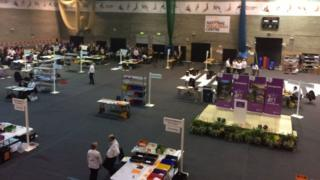 County Council election count in Kettering