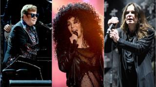 Elton John, Cher and Ozzy Osbourne