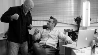 Robbie Williams and David Enthoven
