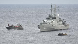 The Australian Navy intercepts a boatload of asylum seekers in 2012