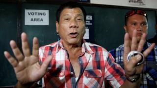 "Presidential candidate Rodrigo ""Digong"" Duterte 09 May 2016"