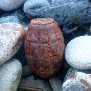 Grenade on beach