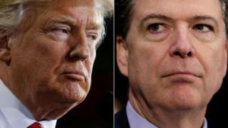 Donald Trump na aliyekuwa mkurugenzi wa shirika la ujasusi nchini Marekani FBI James Comey