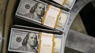 Dollars being printed