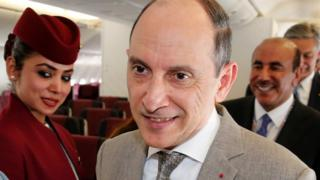 Qatar Airways Chief Executive Officer Akbar Al Baker is seen during the 52nd Paris Air Show at Le Bourget airport (19 June 2017)