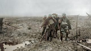 Soldiers at the battle of Passchendaele