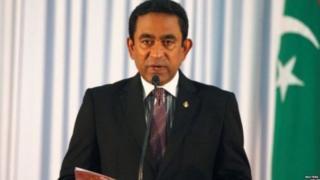 मालदीव के राष्ट्रपति अबदुल्ला यमीन