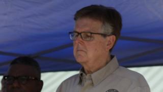 Dan Patrick at the news conference after the shooting on 18 May 2018