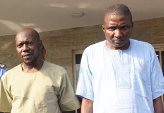 Baale of Shangisha, Chief Yusuf Ogundare (right), with his brother and accomplice, Mohammed Adams