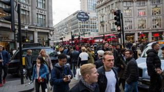 Pedestrians in the London
