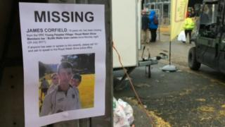 Missing posters have been put around Builth Wells