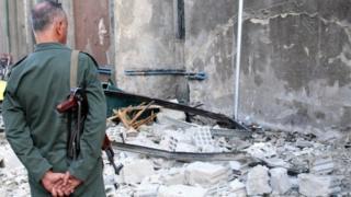استهدف هجوم مخفرا للشرطة في دمشق بداية الشهر الحالي (أرشيف)