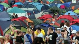 T in the Park campsite