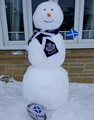 Scotland snowman
