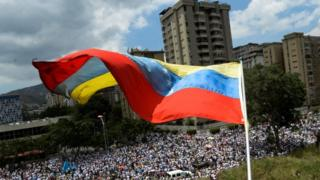 Protest march in Caracas, 22 April 2107