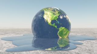 Planeta Terra derretendo