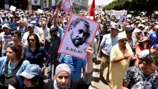 مظاهرات تطالب بالإفراج عن قادة حراك الحسيمة