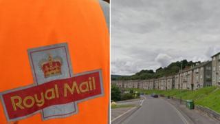 Royal Mail jacket and Holly Road, Risca