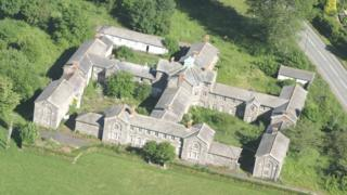 Aerial view of Llanfyllin Union Workhouse