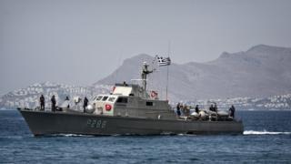 Yunan sahil güvenlik gemisi