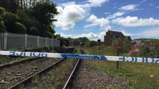 Railway sealed off by police