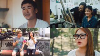 Jovens norte-coreanos