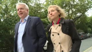 Carwyn Jones and Christina Rees