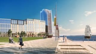 Royal Pier Waterfront illustration