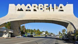 Marbella road sign