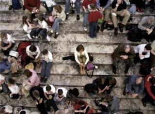 階梯上的人們